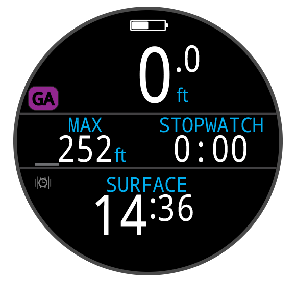 Dive Mode GAUGE